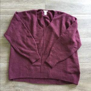H&M Burgundy SweaterSize Medium